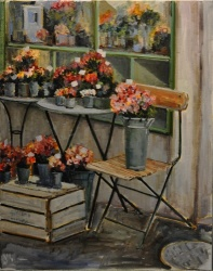 Parisian Flower Shop *SOLD*