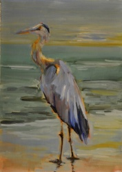 Sunset Heron *SOLD*