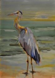 Sunset Heron *SOLD*