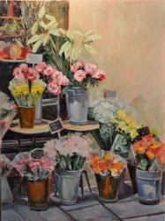 Paris Flower Shop in the Springtime