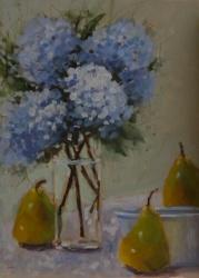 Hydrangeas and Three Pears *SOLD*